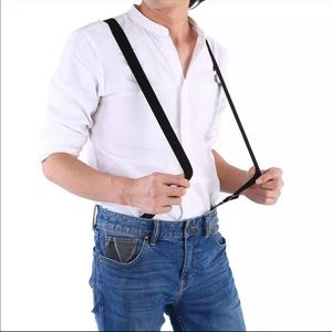 Other - Clip-on Elastic Suspenders y-shaped adjustable